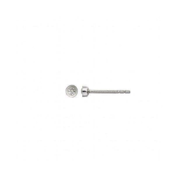 Stine A - Big Dot Earring Silver