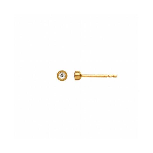 Stine A - Big Dot Earring Gold