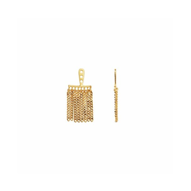 Stine A - Dancing Chains Behind Ear-Earring Gold