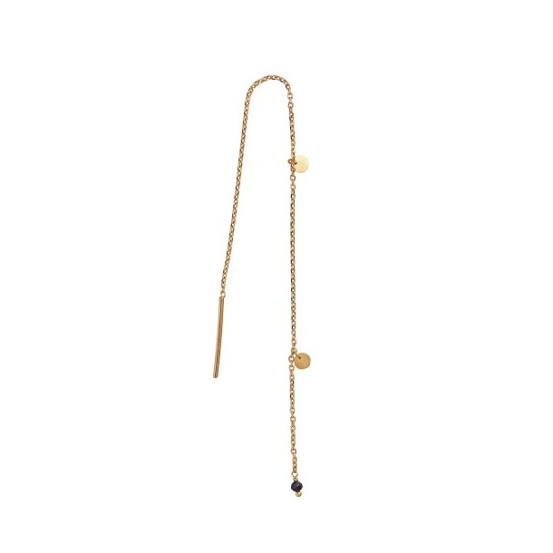 Stine A - Dangling Petit Coin And Stone - Black Spinel