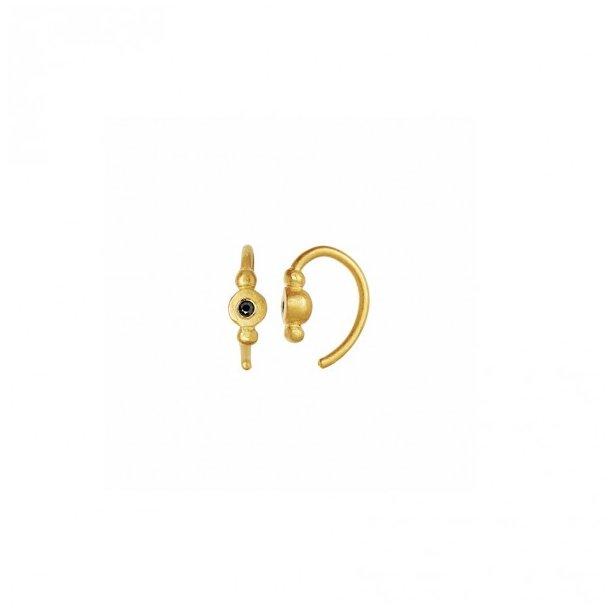Stine A - Petit Bon-bon Black Zircon Earring Gold