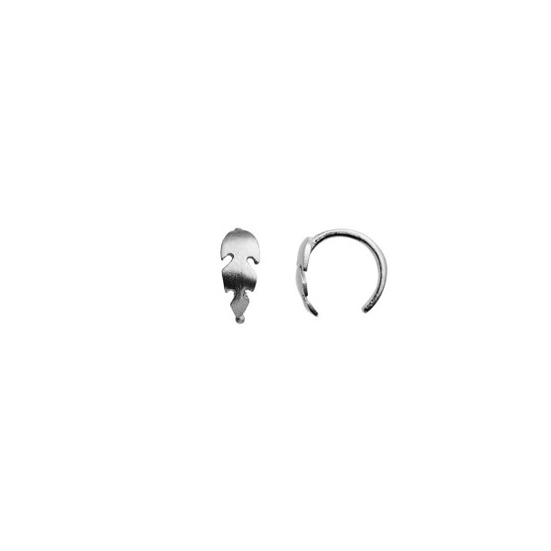 Stine A - Petit Feather Earring Silver