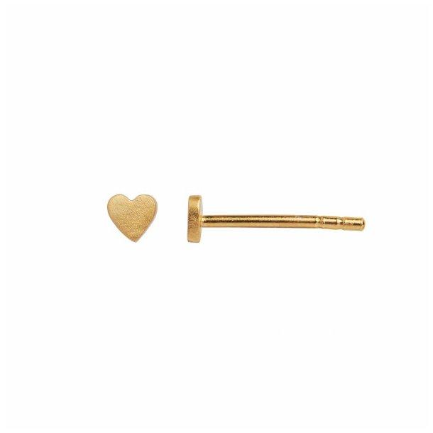 Stine A - Petit Love Heart Earring Gold