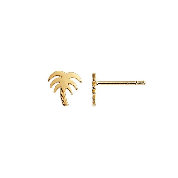 Stine A - Petit Palm Earring Gold