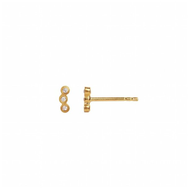 Stine A - Three Dots Earring Gold