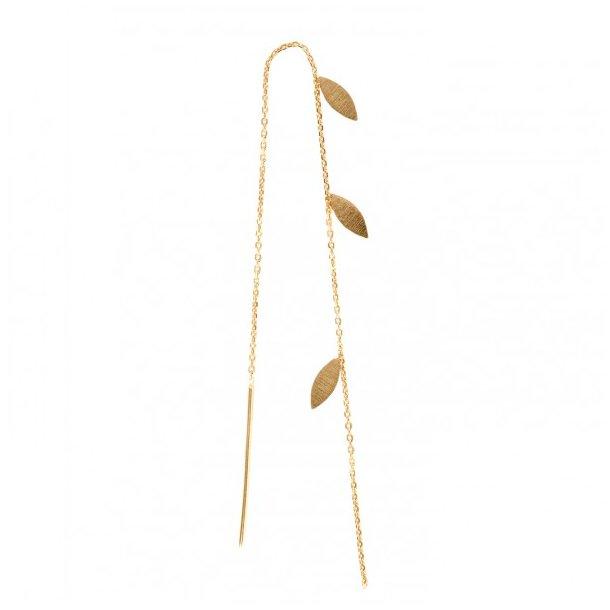 Stine A - Three Leaves Earring Gold
