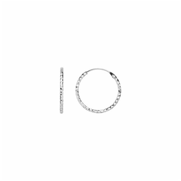Stine A - Tinsel Creol Earring Silver